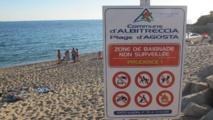 Agosta, plage non surveillée