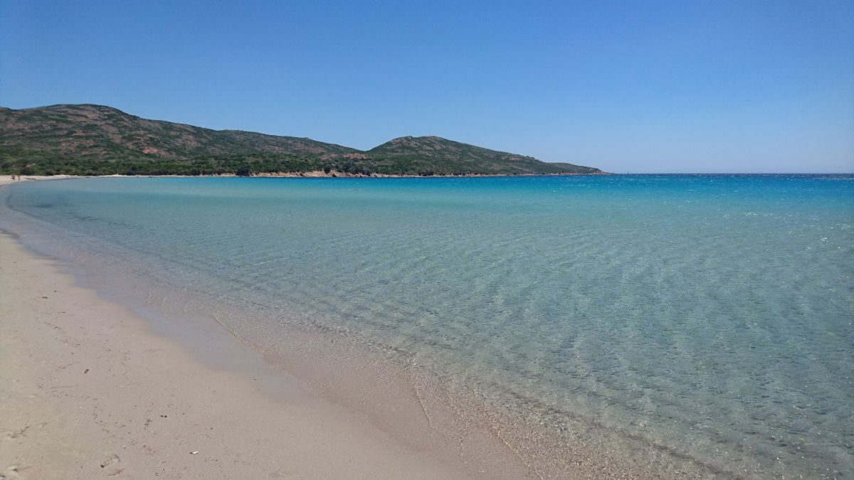 L'eau cristaline de la plage de Balistra